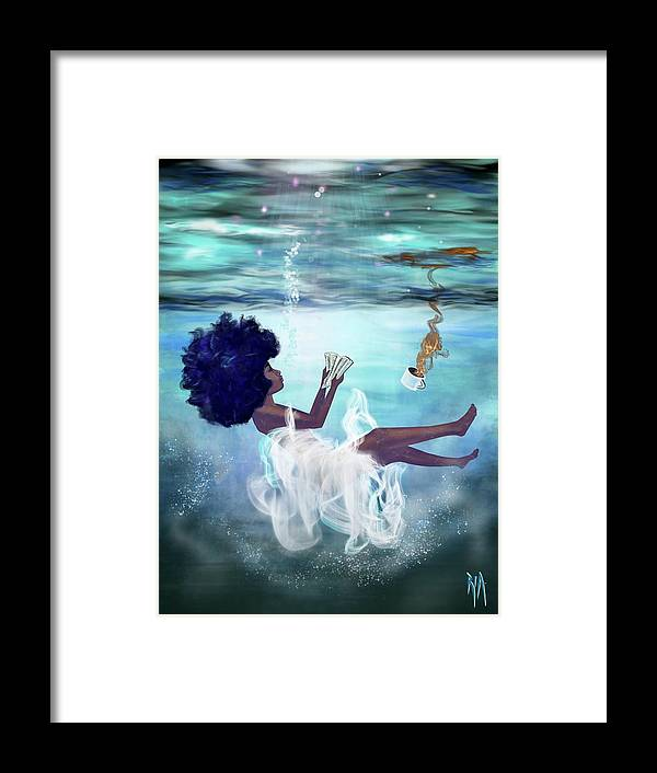 Bible Framed Print featuring the painting I aint drowning by Artist RiA