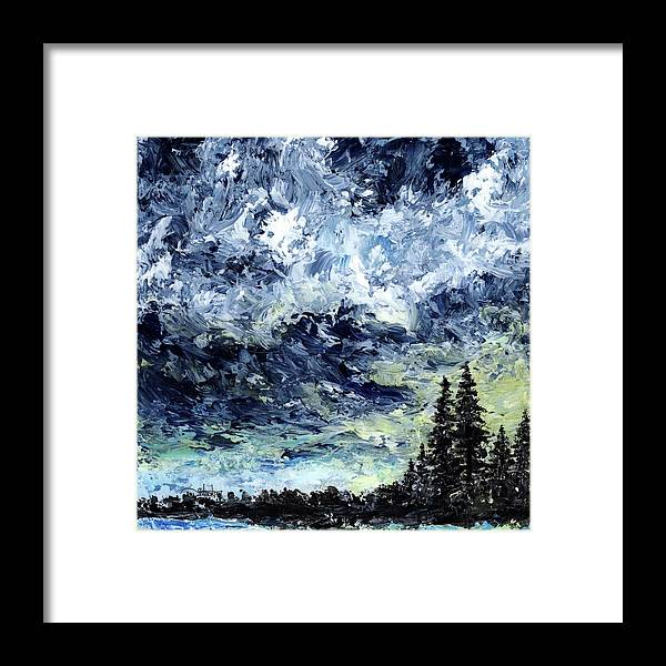 Moment Framed Print featuring the painting I Was Here For A Moment by Cindy Johnston