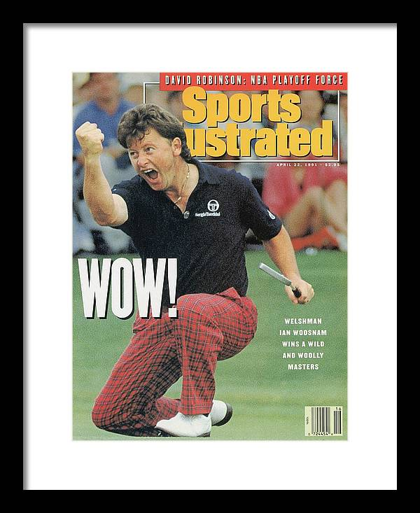 Magazine Cover Framed Print featuring the photograph Ian Woosnam, 1991 Masters Sports Illustrated Cover by Sports Illustrated