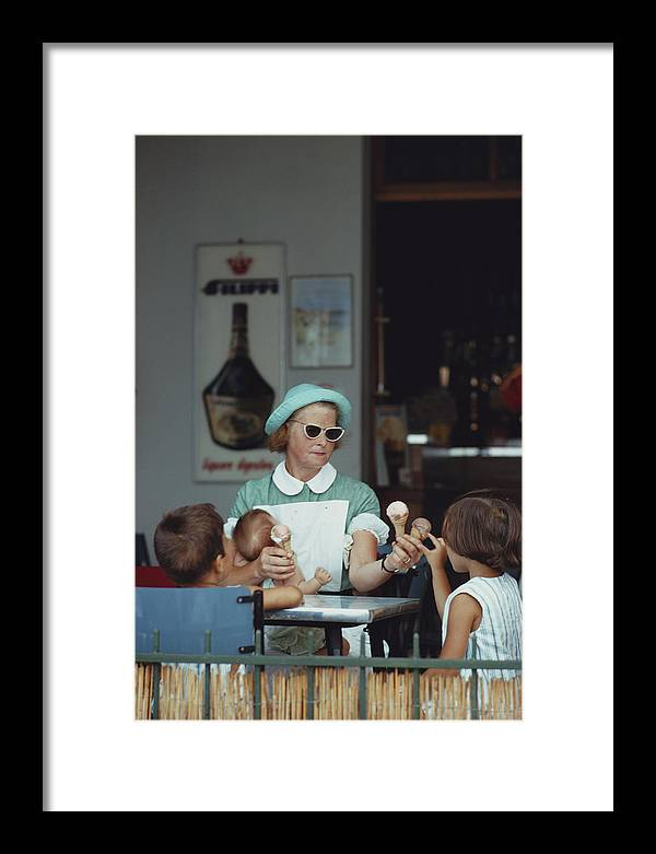 Child Framed Print featuring the photograph Ice Cream Time by Slim Aarons