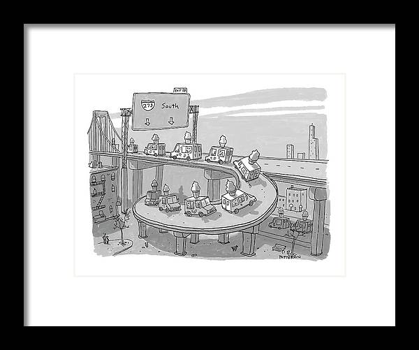 Captionless Framed Print featuring the drawing Ice Cream Truck Migration by Jason Patterson