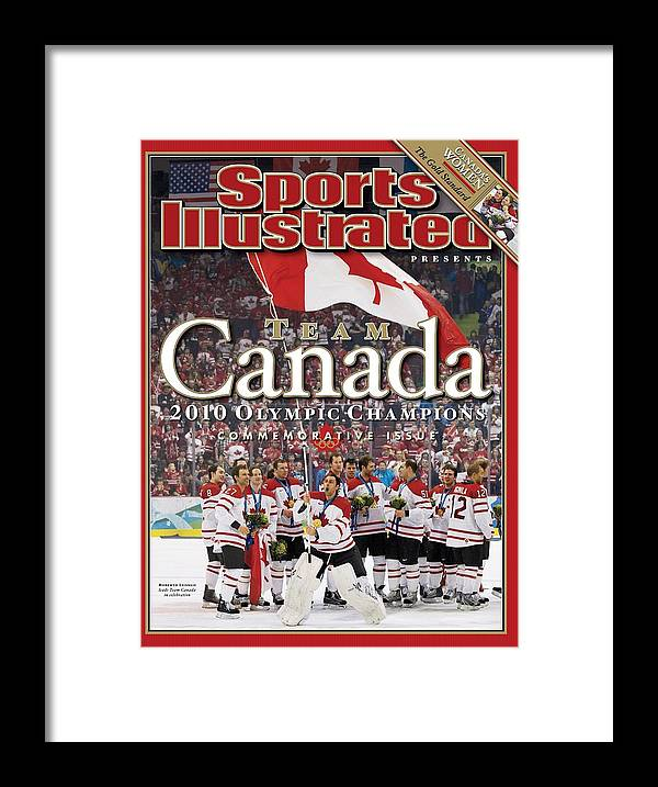 The Olympic Games Framed Print featuring the photograph Ice Hockey, 2010 Winter Olympics Sports Illustrated Cover by Sports Illustrated