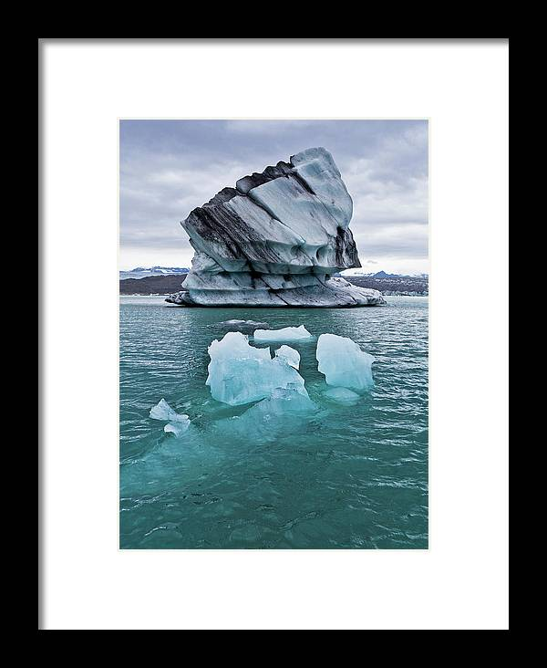 Iceberg Framed Print featuring the photograph Icebergs On Jokulsarlon Glacial Lagoon by Arctic-images