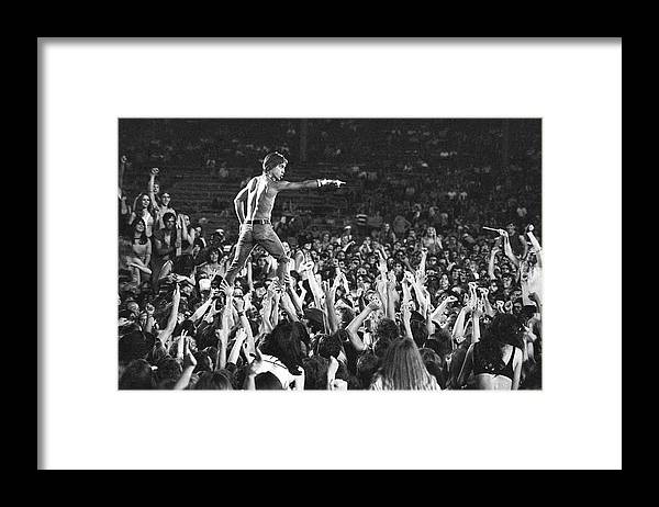 Crowd Framed Print featuring the photograph Iggy Pop Live by Tom Copi