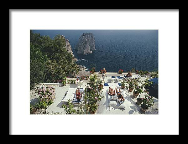 1980-1989 Framed Print featuring the photograph Il Canille by Slim Aarons