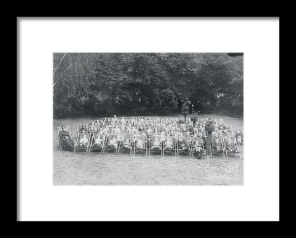 People Framed Print featuring the photograph Ill Children Resting At Camp by Bettmann
