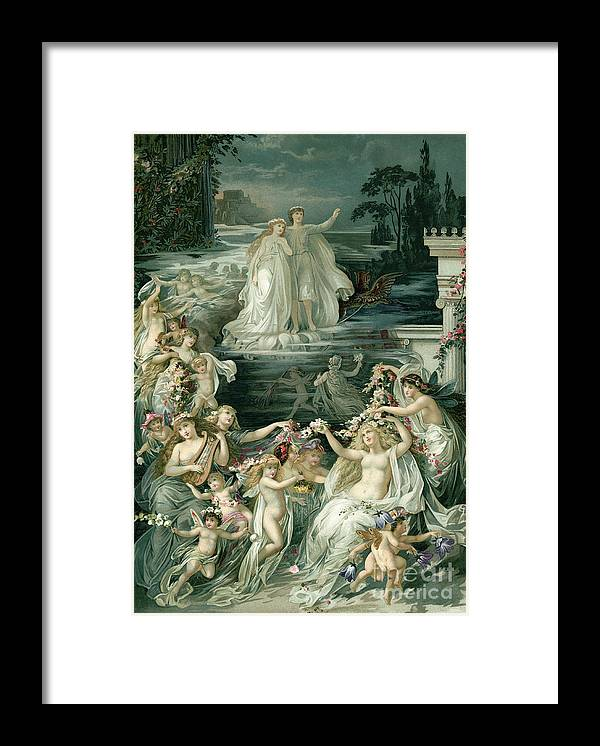 Crown Framed Print featuring the photograph Illustration Depicting Lysander, Hermia by Bettmann
