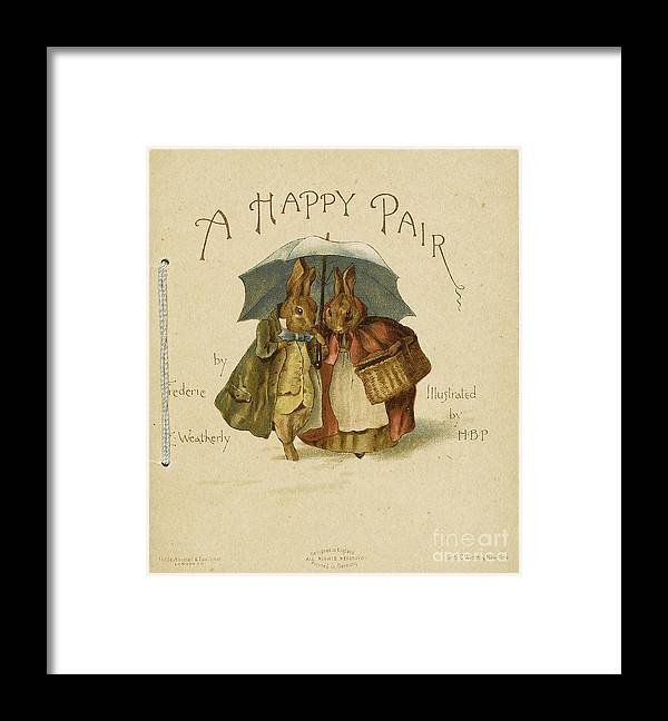 Pair Framed Print featuring the drawing Illustration To A Happy Pair by Heritage Images