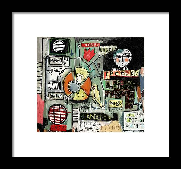 Symbol Framed Print featuring the digital art Image Of Graffiti, Which Contains A Set by Dmitriip