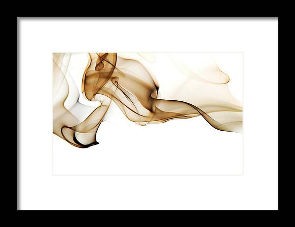 Art Framed Print featuring the photograph Image Of High Contrast Smoke Up Against by Guarosh