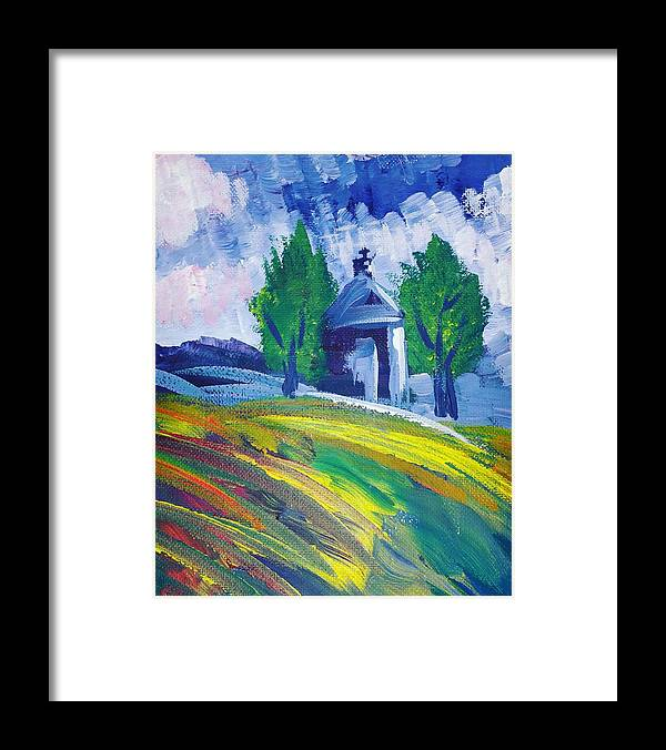 Acrylic Framed Print featuring the painting Impression by Paola Baroni