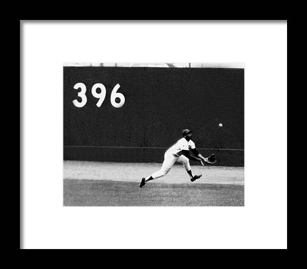 American League Baseball Framed Print featuring the photograph In One Of The Greatest Exhibitions By by New York Daily News Archive