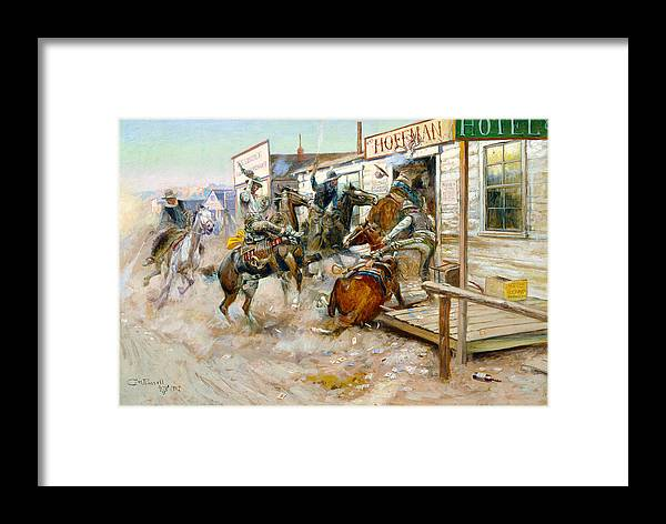Charles Russell Framed Print featuring the photograph In Without Knocking by Charles Russell