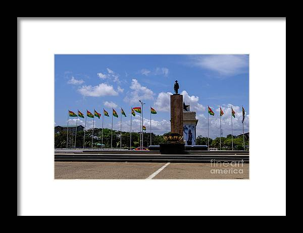 Arch Framed Print featuring the photograph Independence Square Statue by Rosn123