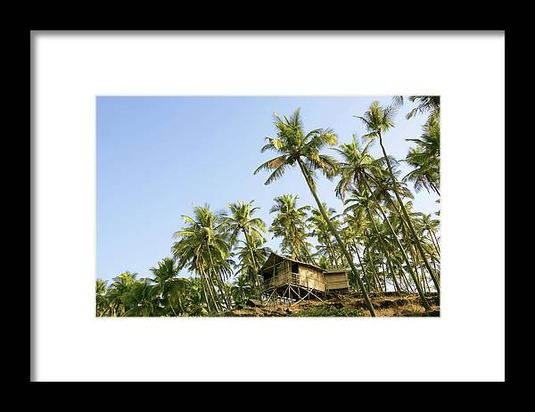 Scenics Framed Print featuring the photograph India, Goa, Beach Huts On Palolem by Sydney James