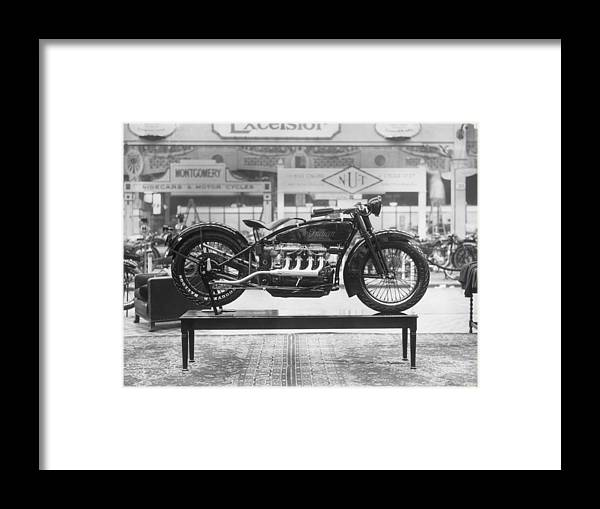 Engine Framed Print featuring the photograph Indian Ace by Topical Press Agency