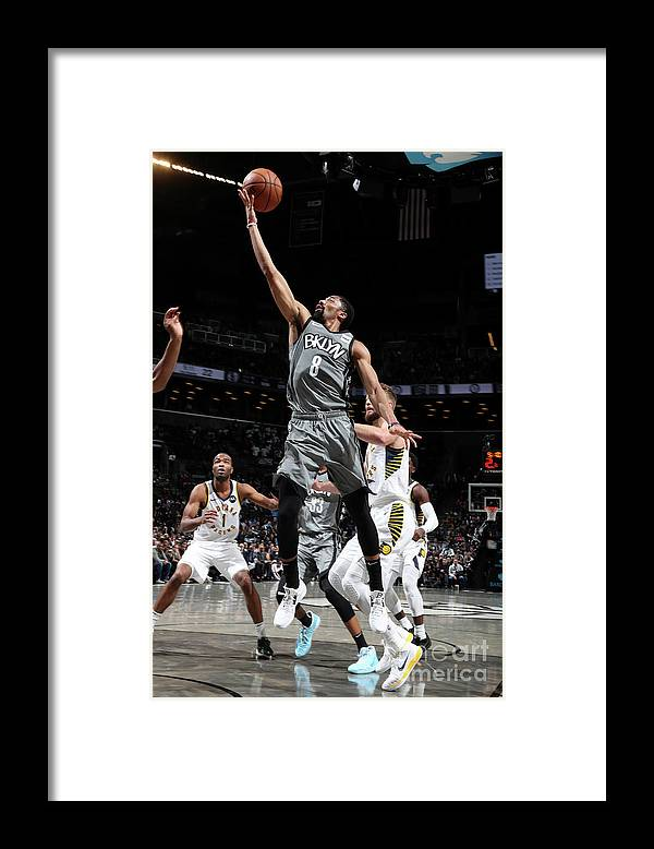 Nba Pro Basketball Framed Print featuring the photograph Indiana Pacers V Brooklyn Nets by Nathaniel S. Butler