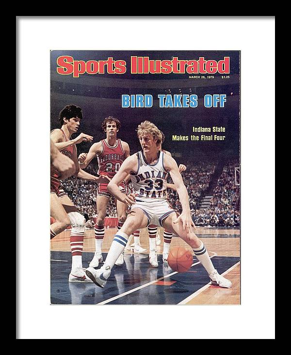 Playoffs Framed Print featuring the photograph Indiana State Larry Bird, 1979 Ncaa Midwest Regional Sports Illustrated Cover by Sports Illustrated