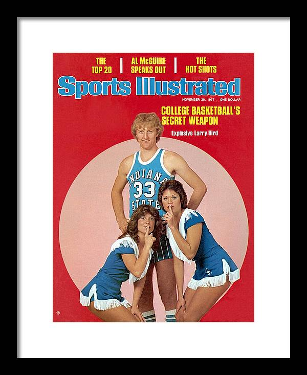 Magazine Cover Framed Print featuring the photograph Indiana State Larry Bird Sports Illustrated Cover by Sports Illustrated