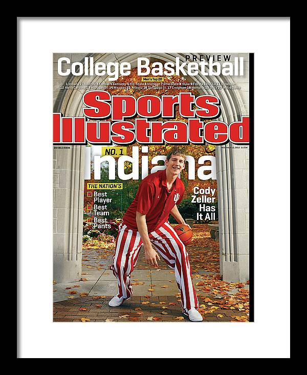 Season Framed Print featuring the photograph Indiana University Cody Zeller, 2012-13 College Basketball Sports Illustrated Cover by Sports Illustrated