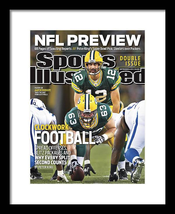 Green Bay Framed Print featuring the photograph Indianapolis Colts V Green Bay Packers Sports Illustrated Cover by Sports Illustrated