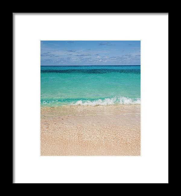 Water's Edge Framed Print featuring the photograph Indonesia, Waves Rolling In From Indian by Joe Mcbride