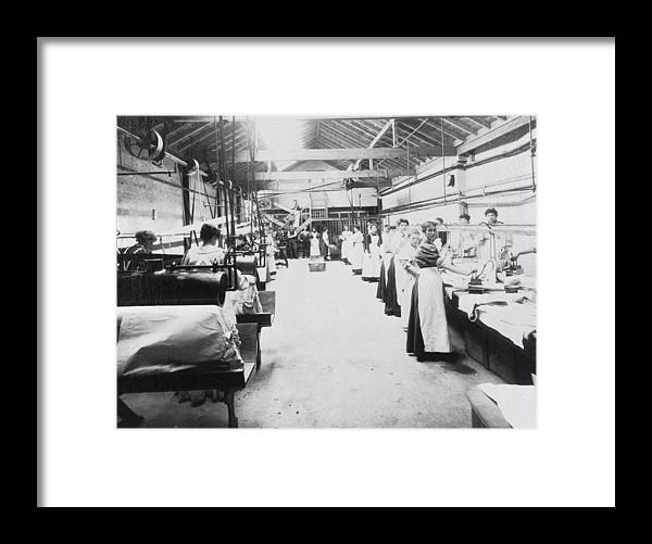 1910-1919 Framed Print featuring the photograph Industrial Laundering by Chaloner Woods