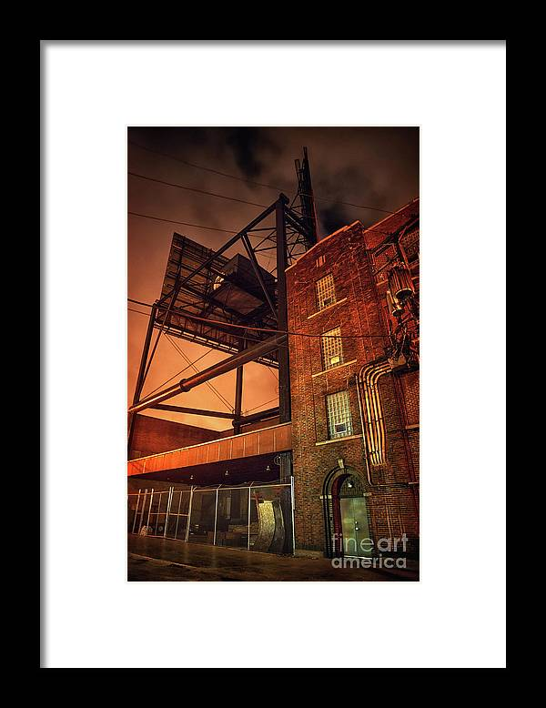 Alley Framed Print featuring the photograph Industrial Sky by Bruno Passigatti
