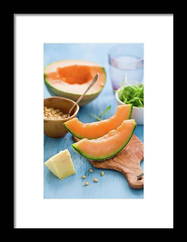 Spoon Framed Print featuring the photograph Ingredients For Melon Salad by Verdina Anna