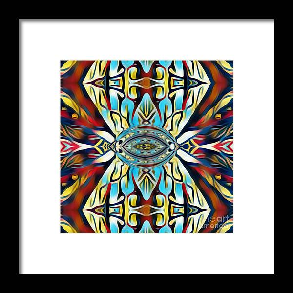 Fania Simon Framed Print featuring the mixed media Insist Or Stay Hidden by Fania Simon