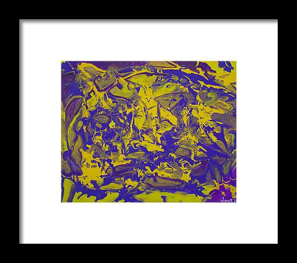 Insomnia Framed Print featuring the painting Insomnia by Sonye Locksmith