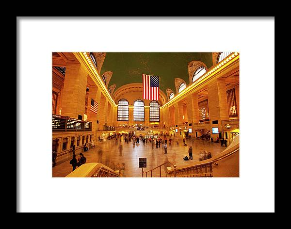 People Framed Print featuring the photograph Interior Of Grand Central Terminal by Danita Delimont