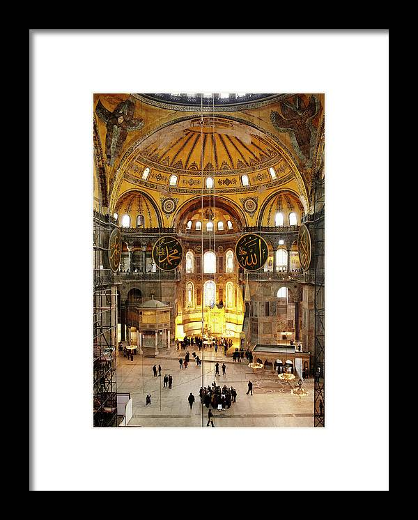 Arch Framed Print featuring the photograph Interior Of Hagia Sophia by Silvia Otte