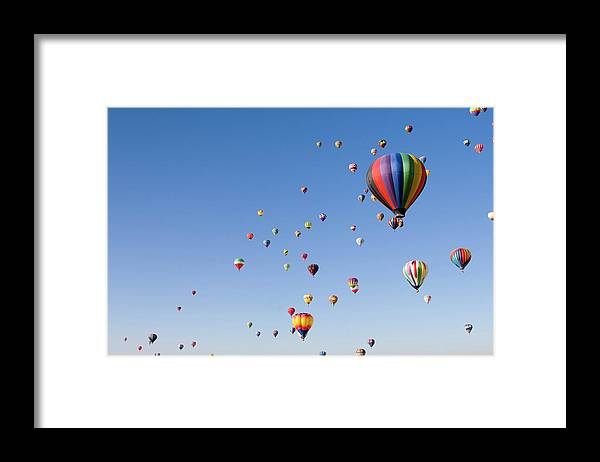 Event Framed Print featuring the photograph International Balloon Fiesta by Prmoeller