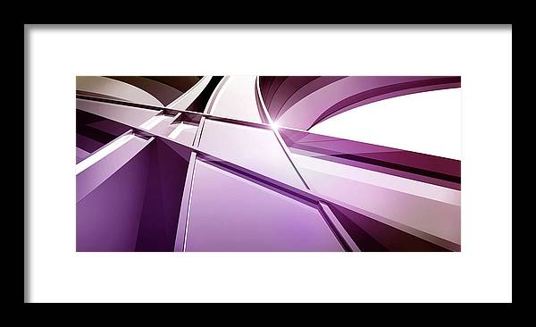 Curve Framed Print featuring the digital art Intersecting Three-dimensional Lines In by Ralf Hiemisch