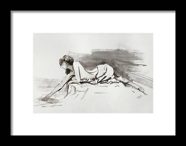 Woman Framed Print featuring the painting Introspection by Steve Henderson