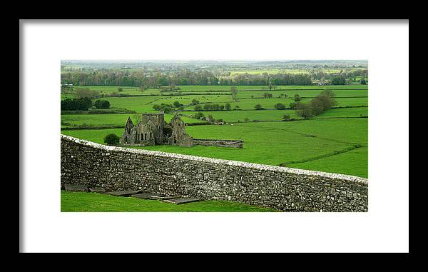Scenics Framed Print featuring the photograph Ireland Country Scape With Castle Ruins by Njgphoto