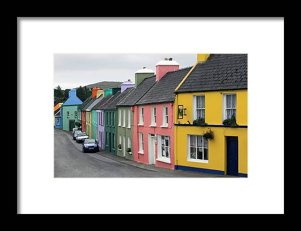 Row House Framed Print featuring the photograph Ireland, County Cork, Beara Peninsula by Glen Allison