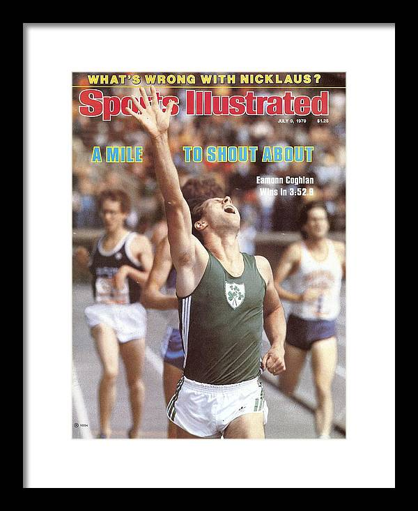 Magazine Cover Framed Print featuring the photograph Ireland Eamonn Coghlan, 1979 Brooks Meet Of Champions Sports Illustrated Cover by Sports Illustrated
