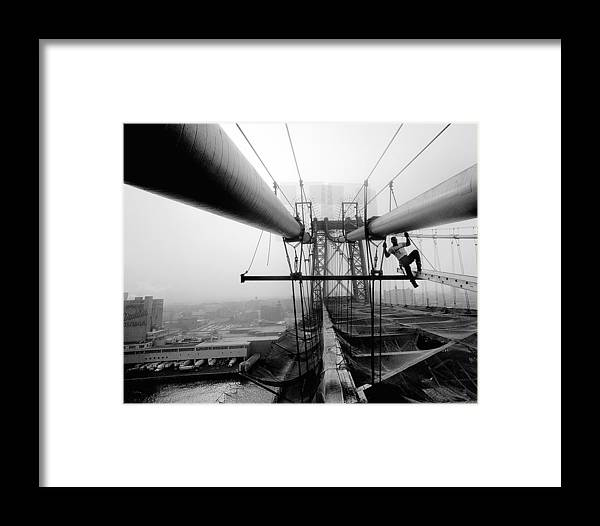 Iron Workers Local 361 Work On Framed Print
