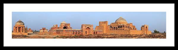 Tranquility Framed Print featuring the photograph Isa Khan Tombs Of Makli by Nadeem Khawar