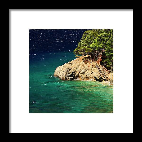 Steps Framed Print featuring the photograph Island In The Adriatic by Tozofoto