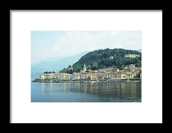 Outdoors Framed Print featuring the photograph Italy, Lombardy, Bellagio On Lake Como by Andy Sotiriou