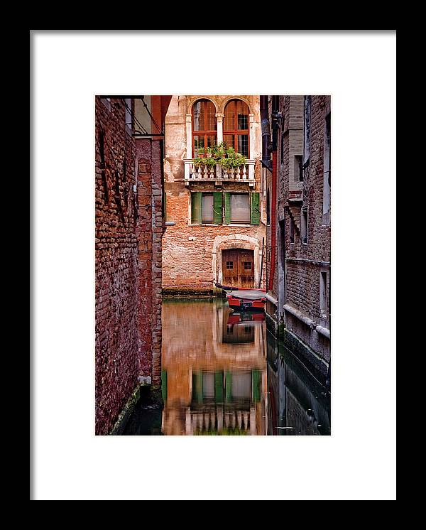 Shutter Framed Print featuring the photograph Italy, Veneto, Venice, Rio San Antonio by Slow Images