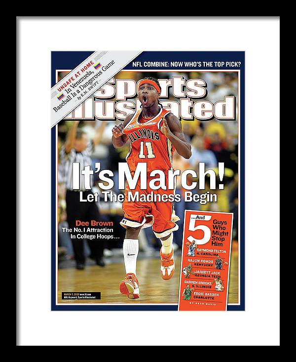 Magazine Cover Framed Print featuring the photograph Its March Let The Madness Begin Sports Illustrated Cover by Sports Illustrated