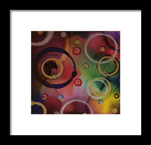 Art Framed Print featuring the painting Its so 1970 by Paulina Roybal