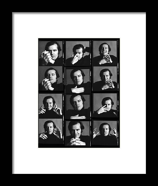 People Framed Print featuring the photograph Jack Nicholson Contact Sheet by Jack Robinson
