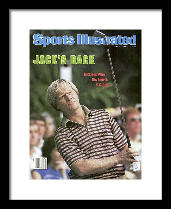 1980-1989 Framed Print featuring the photograph Jack Nicklaus, 1980 Us Open Sports Illustrated Cover by Sports Illustrated