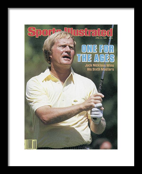 1980-1989 Framed Print featuring the photograph Jack Nicklaus, 1986 Masters Sports Illustrated Cover by Sports Illustrated
