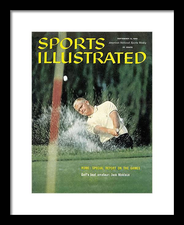Magazine Cover Framed Print featuring the photograph Jack Nicklaus, Amateur Golf Sports Illustrated Cover by Sports Illustrated